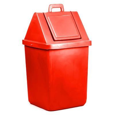 Basurero industrial tapa vaivén 60 Lts Rojo