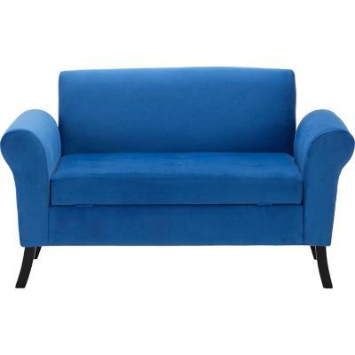Banqueta bául 80x65x130 cm azul rey