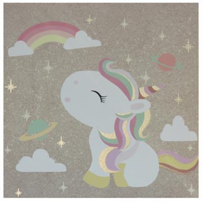 Canvas Unicornio rosado 30x30 cm