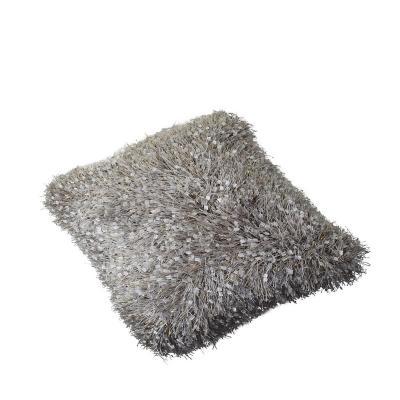 Cojín decorativo shaggy gris 45x45 cm