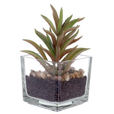 Planta artificial suculenta alta 13 cm
