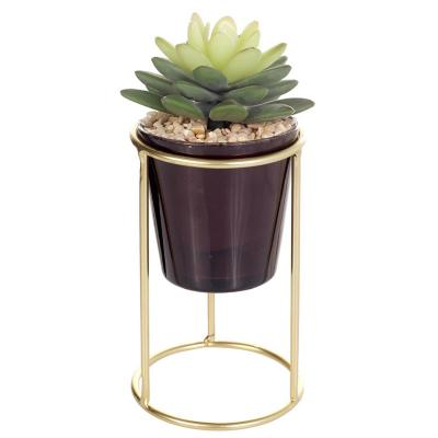 Planta artificio pedestal suculenta tubo 19 cm
