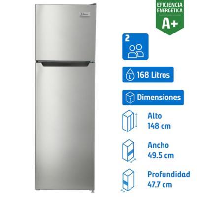 Refrigerador 168 litros frío directo top freezer