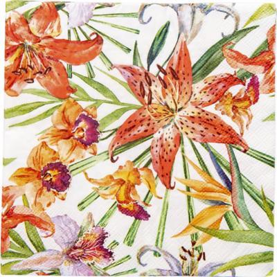 Servilleta de papel 33x33 cm floral 20 unidades