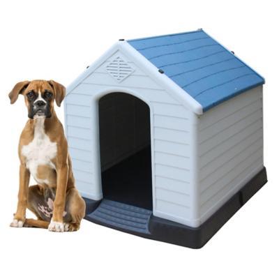 Casa para perros 96x105x98 cm azul