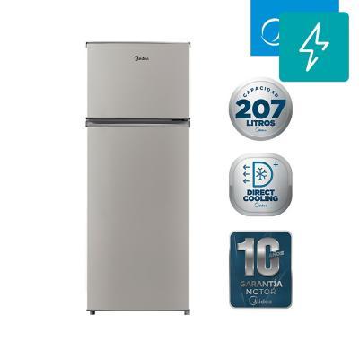 Refrigerador 207 litros frío directo top freezer