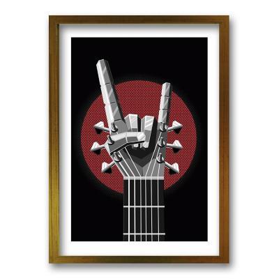 Cuadro 70x50 cm ilustración you rock