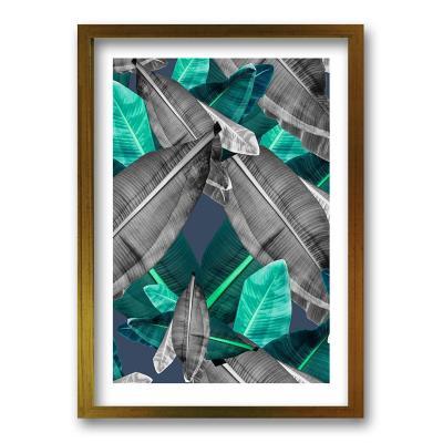 Cuadro 40x30 cm ilustración selva verde