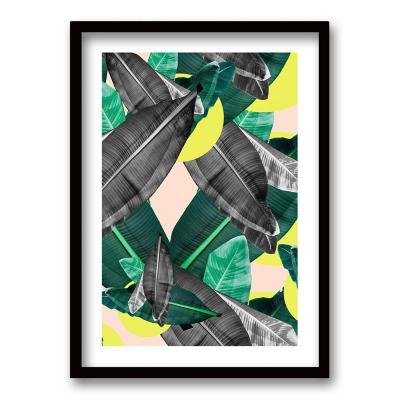 Cuadro 40x30 cm ilustración selva amarilla