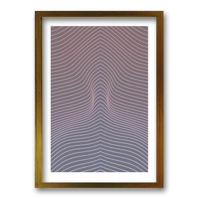 Cuadro 70x50 cm ilustración ilusión lineal