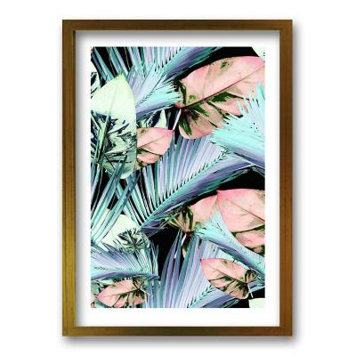 Cuadro 70x50 cm ilustración palmas