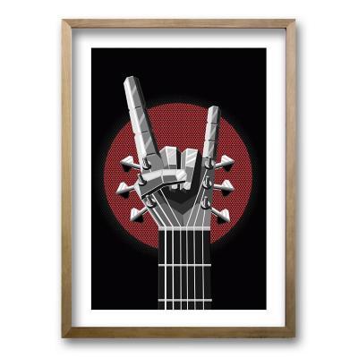 Cuadro 40x30 cm ilustración you rock
