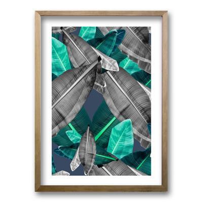Cuadro 50x35 cm ilustración selva verde