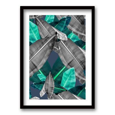 Cuadro 70x50 cm ilustración selva verde