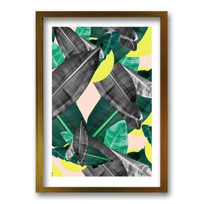 Cuadro 70x50 cm ilustración selva amarilla