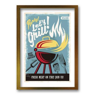 Cuadro 50x35 cm ilustración grill