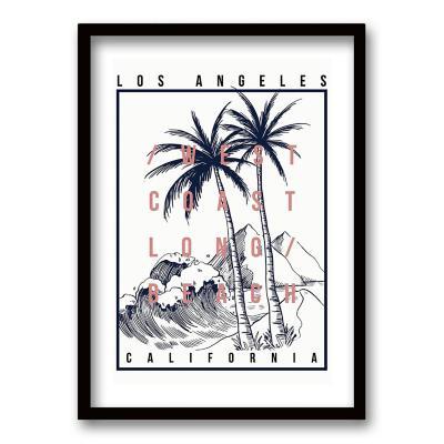 Cuadro 40x30 cm ilustración california