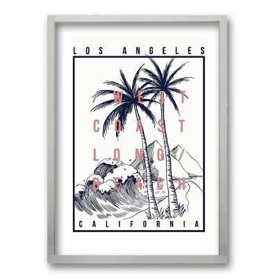 Cuadro 50x35 cm ilustración california