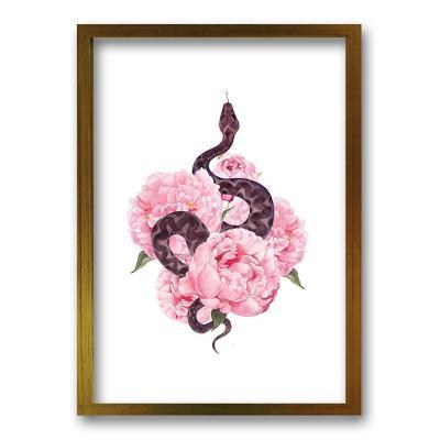 Cuadro 70x50 cm ilustración flor de veneno