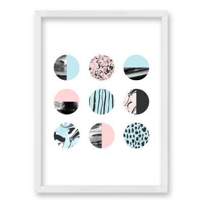 Cuadro 50x35 cm ilustración patron circular