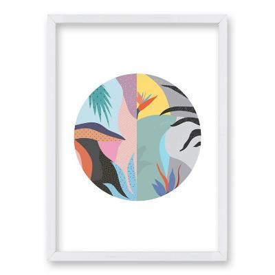 Cuadro 40x30 cm ilustración arte circular