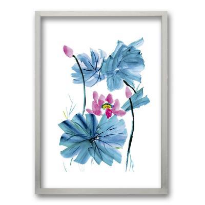 Cuadro 70x50 cm ilustración acua flor