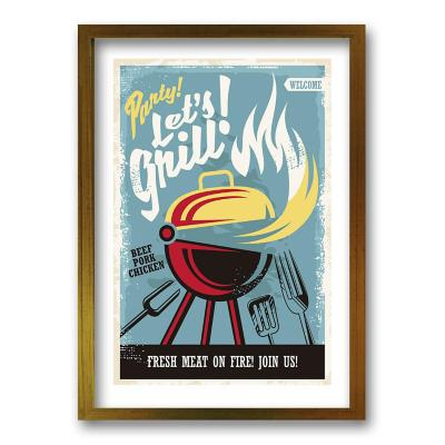 Cuadro 70x50 cm ilustración grill
