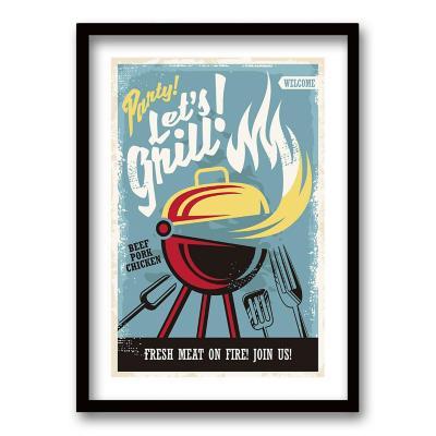 Cuadro 40x30 cm ilustración grill