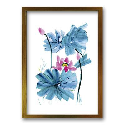 Cuadro 50x35 cm ilustración acua flor