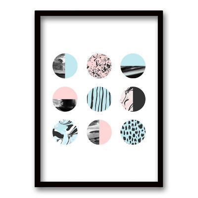 Cuadro 40x30 cm ilustración patron circular