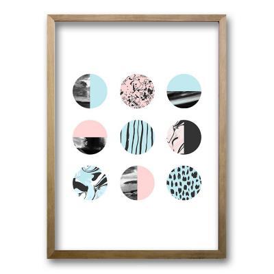 Cuadro 70x50 cm ilustración patron circular