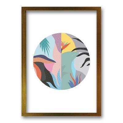 Cuadro 70x50 cm ilustración arte circular