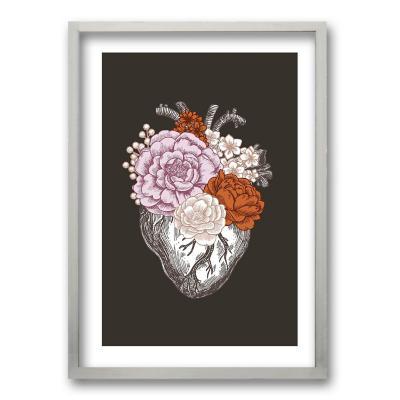 Cuadro 50x35 cm ilustración flor de vida
