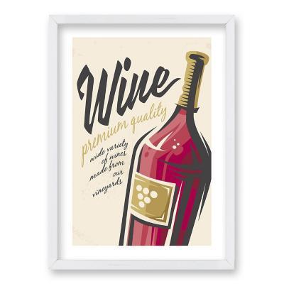 Cuadro 40x30 cm ilustración al vino