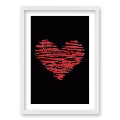 Cuadro 40x30 cm ilustración corazon lineal