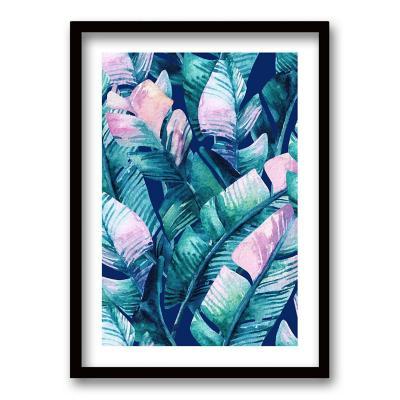 Cuadro 70x50 cm ilustración tropico