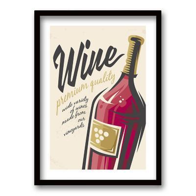 Cuadro 50x35 cm ilustración al vino