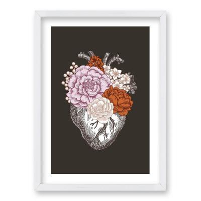 Cuadro 40x30 cm ilustración flor de vida