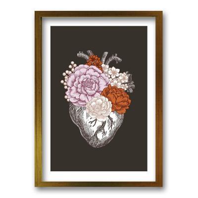 Cuadro 70x50 cm ilustración flor de vida