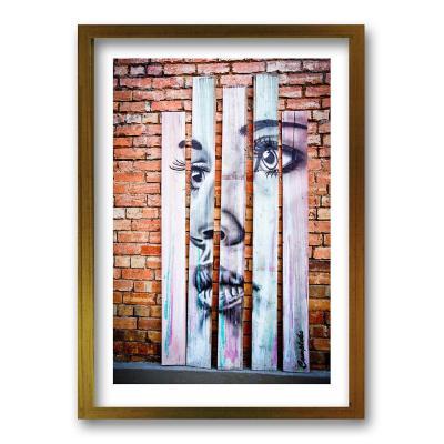 Cuadro 40x30 cm ilustración rostro mural