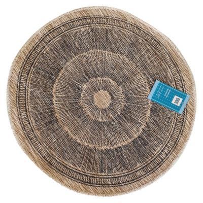 Individual 39 cm yute-algodón redondo