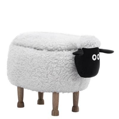 Banca infantil ovejita con almacenaje 38x41x67 cm
