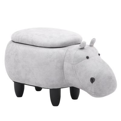 Banca infantil hipopótamo con almacenaje 35x37x67 cm