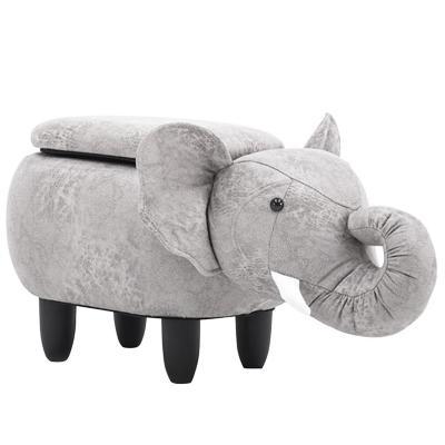 Banca infantil elefante con almacenaje 35x37x74 cm