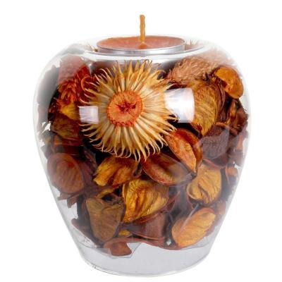 Porta vela decorativo flores secas Vidrio Multicolor
