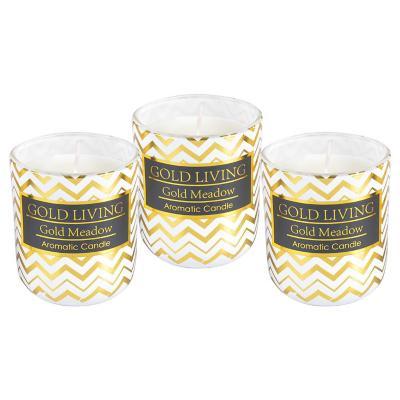Juego velas aromáticas Dorado 7 cm
