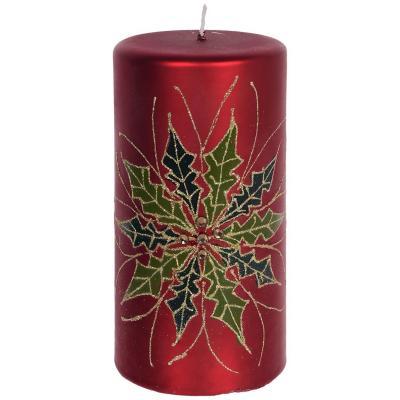 Vela decorativa moscu Rojo 14,3 cm