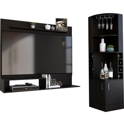 "Bar esquinero + panel TV 55"" wengue"