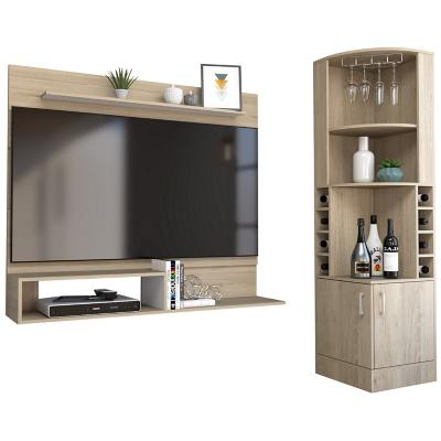 "Bar esquinero + panel TV 55"" rovere"