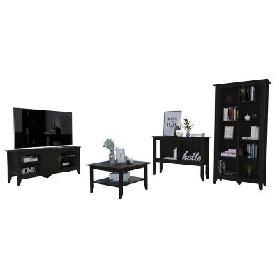 """Rack TV 65"""" + librero + arrimo + mesa de centro wengue"""
